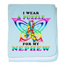 I Wear A Puzzle for my Nephew baby blanket
