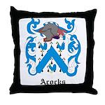 Acocks Coat of Arms Throw Pillow