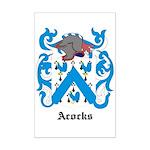 Acocks Coat of Arms Mini Poster Print
