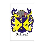 Ackroyd Coat of Arms Mini Poster Print