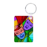Abstract Masks Aluminum Photo Keychain