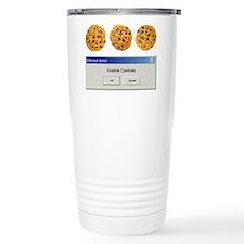 Enable Cookies Ceramic Travel Mug