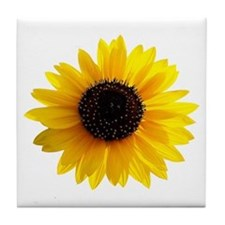 Golden sunflower Tile Coaster
