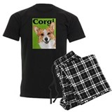 Green Pop Pembroke Welsh Corgi pajamas