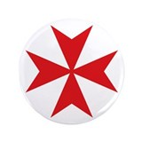 "Maltese Cross 3.5"" Button"
