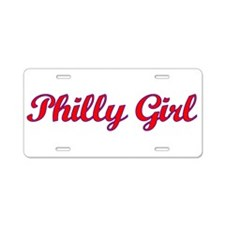 Philly Girl Aluminum License Plate