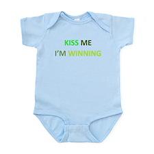 Kiss Me, I'm Winning Infant Bodysuit