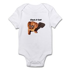 Check it Out Dauchshund Dog Infant Creeper
