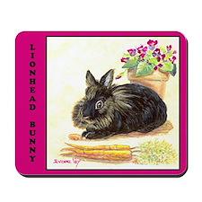 Lionhead rabbit Mousepad