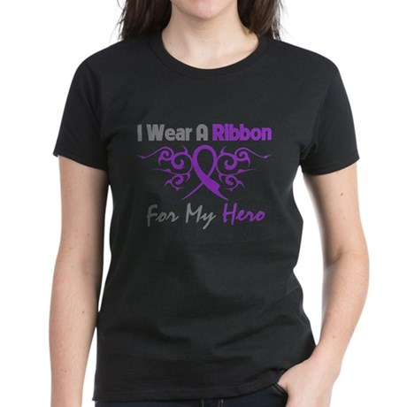 Crohn's Disease Hero Ribbon Women's Dark T-Shirt