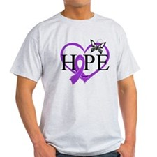 Crohn's Disease Hope Heart T-Shirt