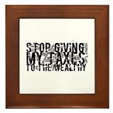 Stop Wealthy Welfare Framed Tile