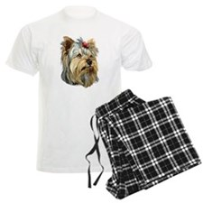 Yorkie Red Bow Pajamas