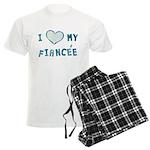 I Heart / Love My Fiancée Men's Light Pajamas