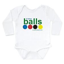 Croquet-It Takes Balls Long Sleeve Infant Bodysuit
