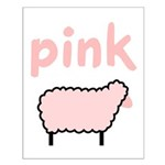 Pink Sheep Small Poster