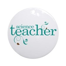 Science Teacher Ornament (Round)