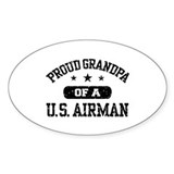 Proud Grandpa of a US Airman Decal