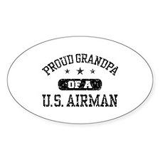 Proud Grandpa of a US Airman Decal