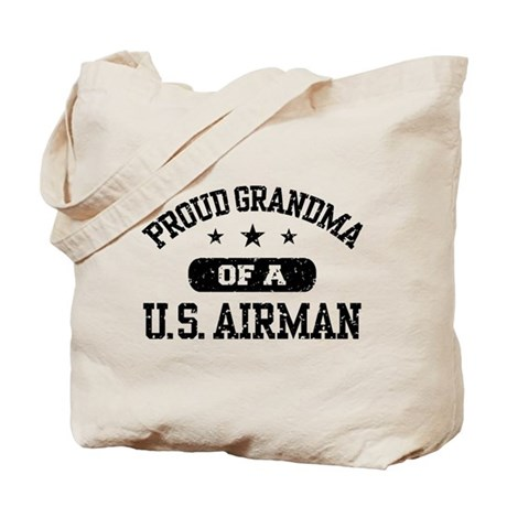 Proud Grandma of a US Airman Tote Bag