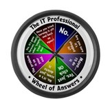 IT Wheel of Answers Large Wall Clock
