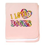I Love Books baby blanket