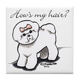 Bichon Hair Humor Tile Coaster