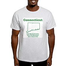 Connecticut, like massachuse Ash Grey T-Shirt