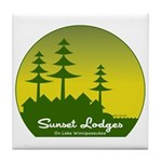Sunset Lodges Tile Coaster