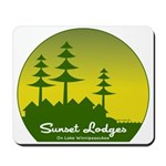 Sunset Lodges Mousepad