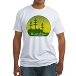 Sunset Lodges Fitted T-Shirt