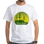 Sunset Lodges White T-Shirt