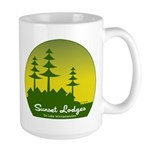 Sunset Lodges Large Mug