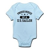 Proud Niece of a US Sailor  Baby Onesie