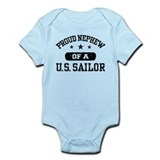Proud Nephew of a US Sailor  Baby Onesie