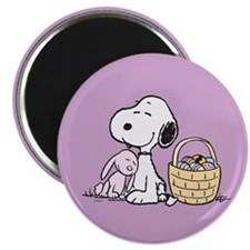 Beagle and Bunny Magnet