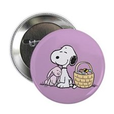 "Beagle and Bunny 2.25"" Button"