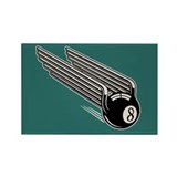 8-Ball Wings -Aero Rectangle Magnet