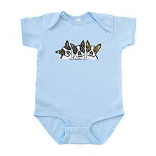 Three Bostons Infant Bodysuit