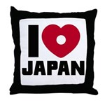 I Love Japan Throw Pillow