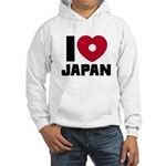 I Love Japan Hooded Sweatshirt