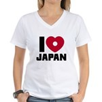 I Love Japan Women's V-Neck T-Shirt