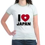 I Love Japan Jr. Ringer T-Shirt