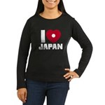I Love Japan Women's Long Sleeve Dark T-Shirt