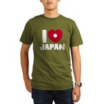 I Love Japan Organic Men's T-Shirt (dark)