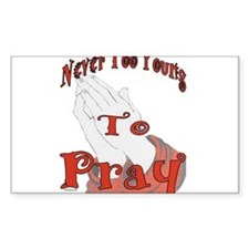 Unique Pray for me Decal