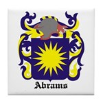 Abrams Coat of Arms Tile Coaster