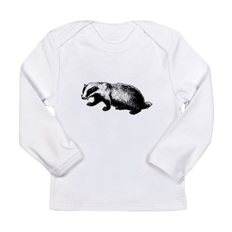 Honey Badger Doesn't Care Long Sleeve Infant T-Shi