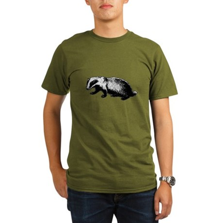Honey Badger Doesn't Care Organic Mens Dark T-Shirt