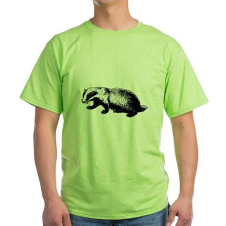 Honey Badger Doesn't Care Green T-Shirt